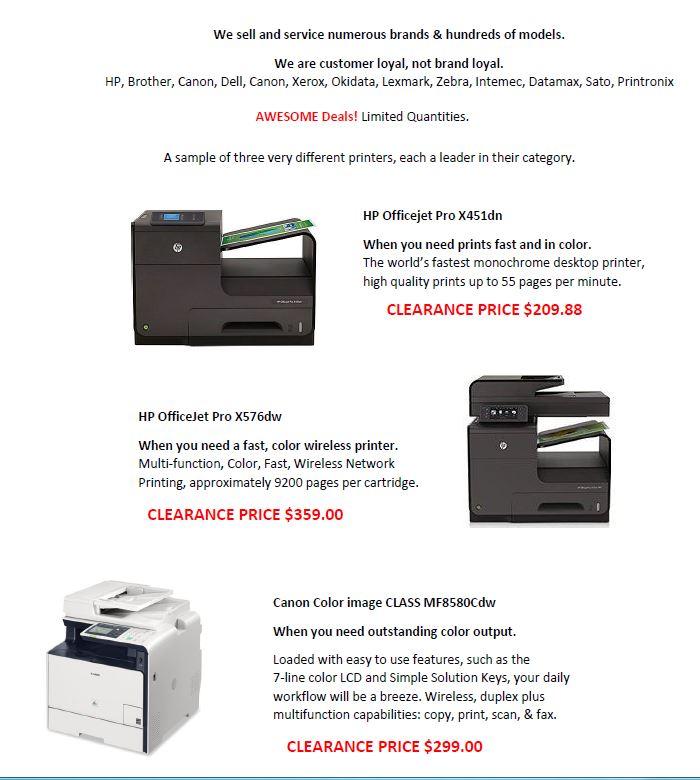 FB printer sale