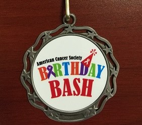 Finishers Medal for ACS Birthday Bash Run
