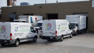 drivers loading vans